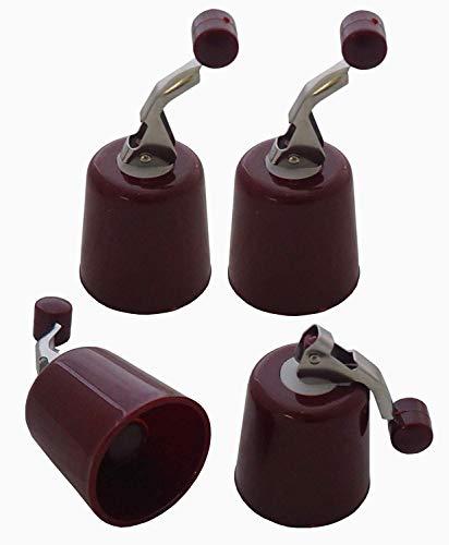 Preisjubel 4 x Flaschenverschluss, Weinflaschenverschluss, Sektflaschenverschluss