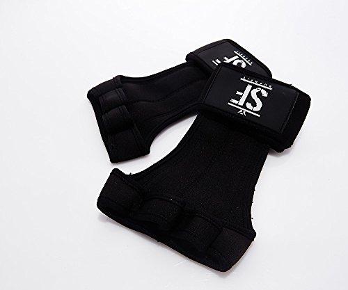 Suprfit Gymnastic WOD Grips   Gymnastik Handschuh   Turn Riemchen   Hand Schutz   Crossfit Turnen Fitness   Mit Handgelenk Schutz   Silikon Handfläche   Schwarz   XS bis XL