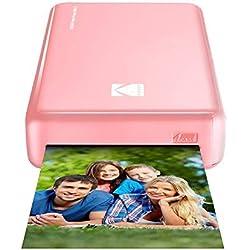 Kodak - Imprimante Photo Mini 2 HD, Instantanée, sans Fil et Mobile, Technologie d'Impression Brevetée 4Pass, Compatible avec iOS et Android, Rose