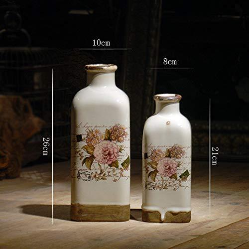 OYBB Ornamente Statuen Vasen Land Handgemachte Gelbe Vögel Kleine Flaschen Keramik Vase Dekoration Handwerk Geschenke Wohnkultur