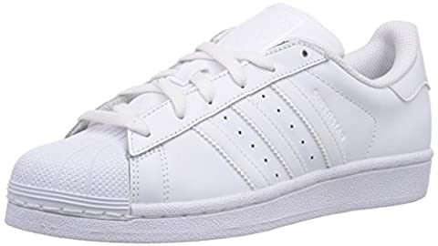 adidas Superstar Foundation, Sneakers Basses mixte enfant, Blanc (Ftwr White/Ftwr White/Ftwr White), 38 EU (UK child 5 Enfant UK)