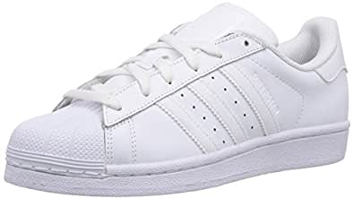adidas Originals Superstar Foundation J B23641, Unisex-Kinder Low-Top Sneaker, Weiß (Ftwr White/Ftwr White/Ftwr White), EU 35.5