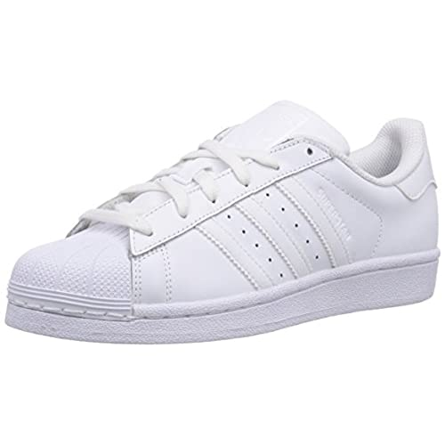 adidas Superstar Foundation, Sneakers Basses Mixte Enfant, Blanc (FTWR  White/FTWR White/FTWR White), 37 1/3 EU (UK Child 4.5 Enfant UK)