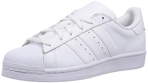 adidas Superstar Foundation, Unisex-Kinder Sneakers, Weiß (Ftwr White/Ftwr White/Ftwr White), 38 2/3 EU (5.5 Kinder UK)