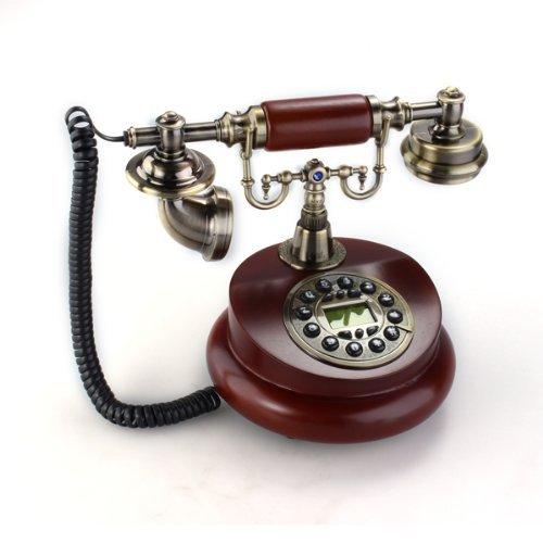 SODIAL(R) Antikes Designer Telefon Nostalgietelefon Altes Fernrohr uralt Telephon aus Harz