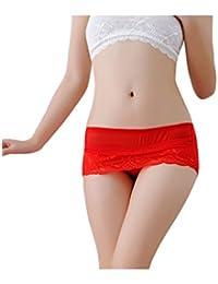 90fbcbfaa2c Bestgift Femme Sous-Vêtements Shorties de lace dentelle
