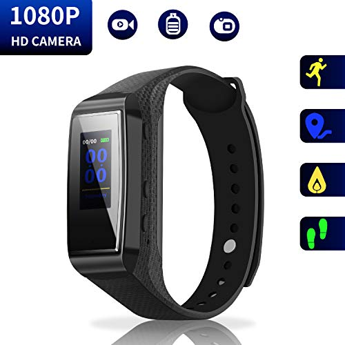 Versteckte Kamera Armband HD Mini Camcorder - Bunte Screen Version Spion Kamera 1080p Wirst Band Sport Spycam GSmade Lens-Shielded Überwachung DVR mit Tracker-Funktion