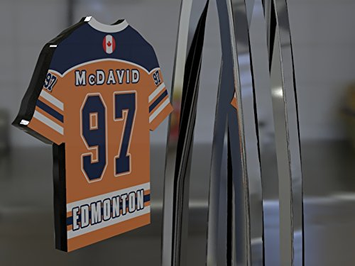 NHL Ice Hockey Jersey Kühlschrank Magnet–Sie den Namen, Anzahl und Team Farben, kostenlose Personalisierung. Edmonton Oilers NHL Magnet