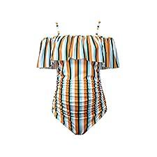 Traje de baño Mujer Maternidad,ZARLLE Tankini Traje de Baño Mujer Maternidad Premamá para Mujer Punto Deportes Bañador de Una Pieza Embarazada Bikini Beachwear