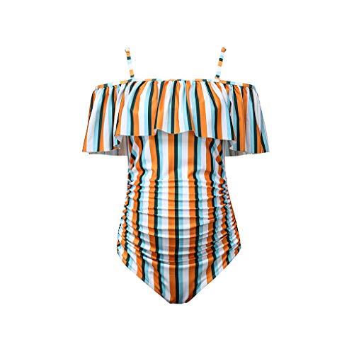 Angebote, Deals,pitashe Vintage Striped Schwangerschafts Tankini Zweiteiler Badeanzug Umstands-Tankini-Schwangerschafts-Bademode   Zweiteiler-Badeanzug für Schwangere   Tankini-Set   Streifen-Muster
