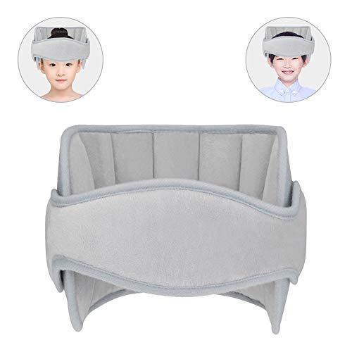 Linkax Bébé Support de Tête de Voiture, Tête d'oreiller de sécurité bébé Réglable, Porte-Tête Fixation Ceinture Sièges de Voiture pour Bébé Enfant Adulte (Gris)