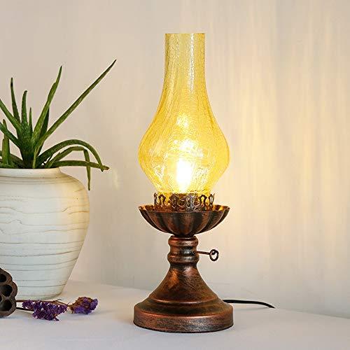 Antike Kerosin LED Lampe Tischlampe Retro Schlafzimmer Nachttischlampe Kreative Amerikanische Klassische Arbeitszimmer Dekoration Tischlampe Schreibtisch Lanps -