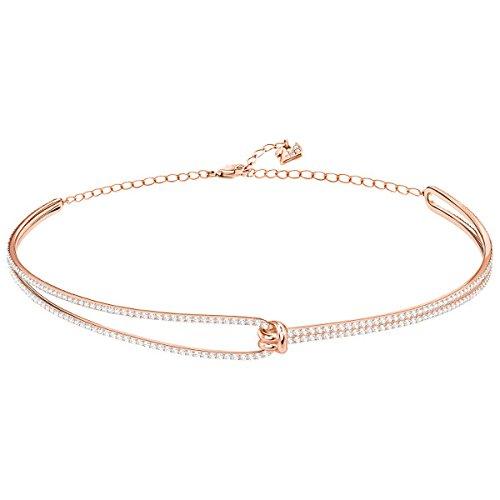 Swarovski Damen-Halskette aus Choker Edelstahl Kristall 5392925