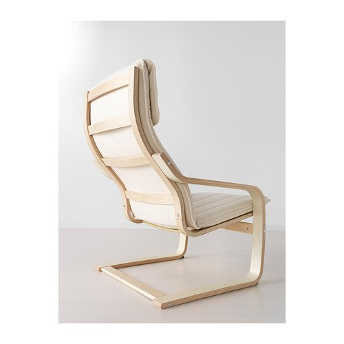 IKEA Schwingsessel Poäng Sessel Freischwinger aus Birkenholz - Polster Alme NATUR