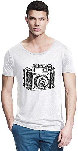 Camera Bamboo Wide Neck T-shirt Small