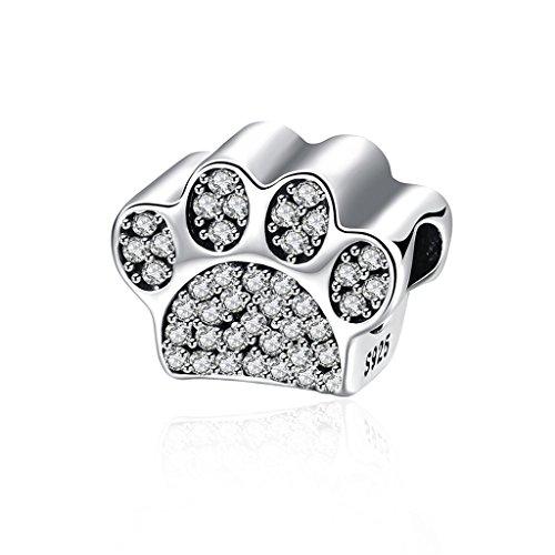 91ee5d02d3b63e HMILYDYK Charm, Circonita Plata de Ley 925 Animal pies blanco Crystal Beads  Fits Pandora pulsera