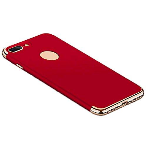 Hosaire Handy Schale Hülle für Apple iphone 5/5s Kreative 3 in 1 Phone Case Schützend Schutzhülle Apple Telefon Fall Schutzhülle Phone Shell Rote