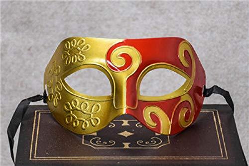 HEOWE Mode Römische Maske Herren & Frauen Venezianischen Kostüm Party Masken Männer Hochzeit Griechischen Event Party Cosplay Augenmaske für Halloween @ - Griechischen Mann Kostüm