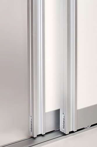 Schiebetürbausatz inkl. Aluminium Rahmentyp A | Inkl. Beschläge für 2 Türen, max. Flügelmaße: 1300 x 2750 mm | Füllung kommt von Ihnen |Boden- und Deckenschiene in 3000 mm