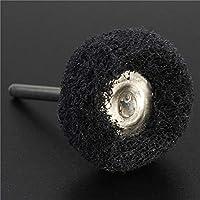 Ji Yun Herramienta abrasiva, El Cabezal de molienda de Almohadilla se Adapta a Las pulidoras Dremel Tampones abrasivos Fregado de vástago de 3 mm (Color : Negro)