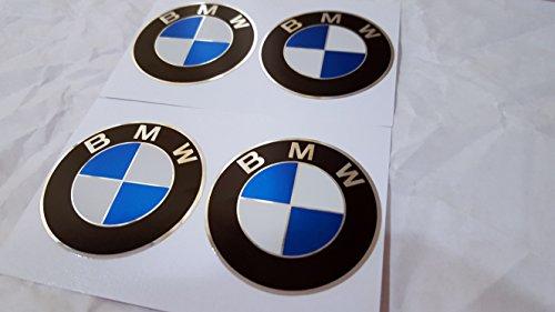 Lenkrad-Aufkleber,4x 65mm Durchmesser, mit BMW-Emblem, selbstklebend für flache Oberflächen