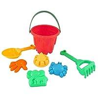 Whiie891203 DIY Dollhouse Miniatures 7Pcs/Set Kids Sand Beach Castle Bucket Spade Shovel Rake Model Water Tools Toy - Random Color 7pcs