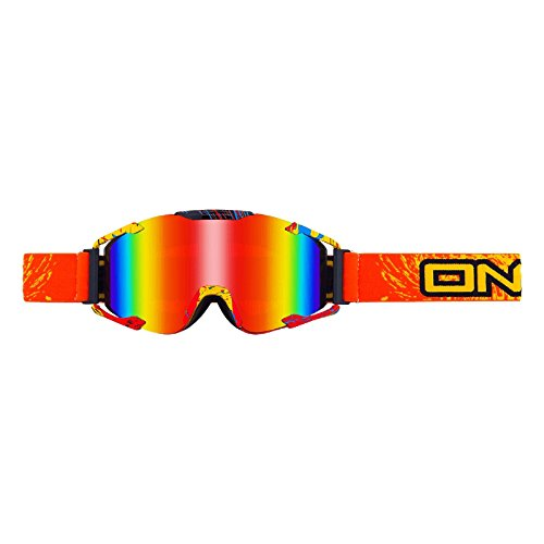 O'Neal B2 RL Goggle Spray Orange Radium Brille Motocross Downhill MX DH FR Quad Enduro, 6032S-203