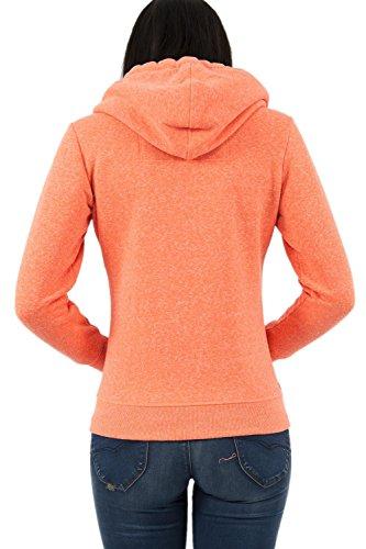Superdry Damen Kapuzenpullover Orange Label Primary Ziphood koralle
