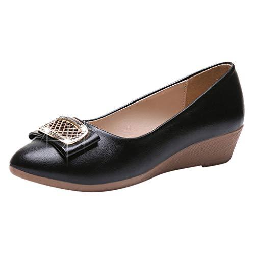 r Sandalen Bohemian Flach Sandaletten Sommer Strand Schuhe,Damenmode Casual Wedges Spitz Kristall Niedrige Absätze Flache Arbeitsschuhe ()