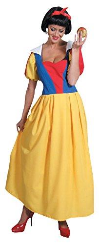M205123-XXL mehrfarbig Damen Schneewittchen Kleid lang Prinzessin -