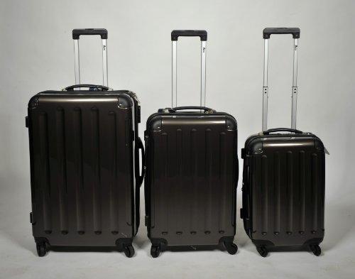 Set di 3singolo o M/L/XL/policarbonato/ABS Flight Case Valigia Rigida Trolley Set Set di valigie 4ruote Charcoal L