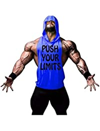 YeeHoo Chaleco para Hombres Deportivo Camiseta Sin Mangas de Tirante Sudadera con Capucha Gimnasio Músculo Formación
