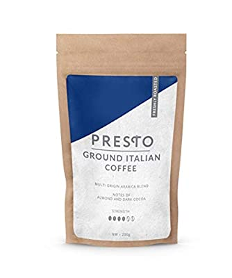 Ground Coffee - Coffee - Light Brazilian Speciality Coffee. Single Origin Brazilian Coffee for Coffee Machines, French Press, Aeropress or cafetiere by Presto Coffee Roasters