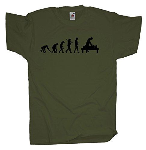 Ma2ca - Evolution - Masseur - Herren T-Shirt | Massage-olive-l (Massage-t-shirts)