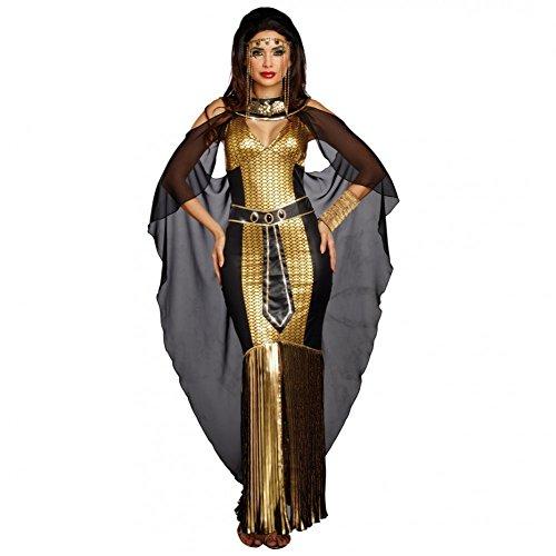 Dreamgirl Kostüm Ägypterin Meritaton Gr. L Kleid Schwarz/Gold Fasching Cleopatra Antike