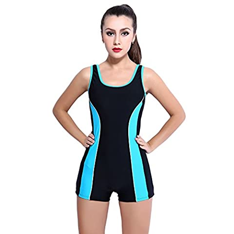 Young17 - Maillot une pièce - Femme Blue&Black - - Small
