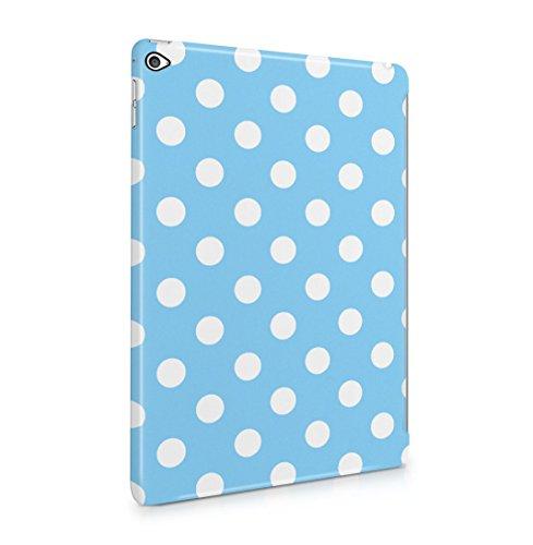 Baby Blue Polka Dots Pattern Dünne Rückschale aus Hartplastik für iPad Air 2 Tablet Hülle Schutzhülle Slim Fit Case Cover Dots Cover Case Snap