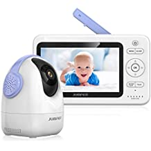 JUMPER Babyphone Wireless Video Baby Monitor 2.4GHz 720 p PTZ Cámara +5 pulgadas HD LCD Monitor, Audio Dos Vías Invisible Night Vision Sensor Temperatura 5 Lullabies