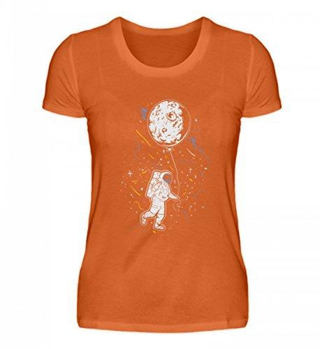 Hochwertiges Damen Premiumshirt - Astronaut mit Ballon - Mond Weltraum Raumfahrer Galaxie Science Fiction Sci-FI ()