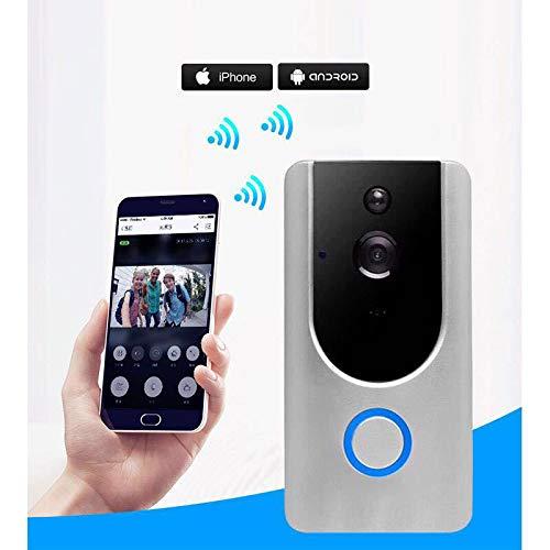 CRZJ Wireless Video Türklingel, WiFi Wireless Visual Intercom Smart Türklingel für Home Securi für iOS und Android - Home-securi