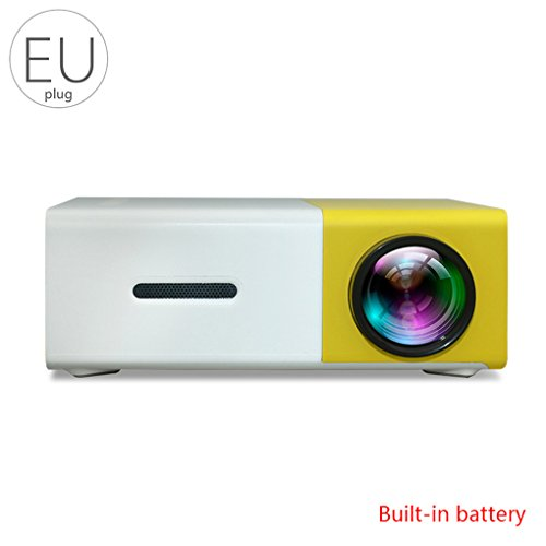 Yangge Yujum YG300 Mini-Projektor Heimkino-Projektor mit LED-Batterie mobilen Projektor 1080P Kompatibel mit PC Phones fgyhty