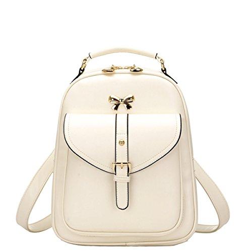LAIDAYE Mädchen Tasche Schulrucksack Tasche Rucksack Paket Tasche Beige