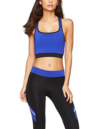 IRIS & LILLY Sujetador deportivo para mujer, Azul (Black/Cobalt Blue),