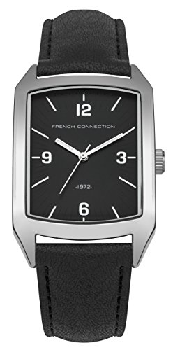 FRENCH-CONNECTION-Mens-SFC113B-Quartz-Watch-with-Off-White-Dial-Analogue-Display-and-PU-Strap