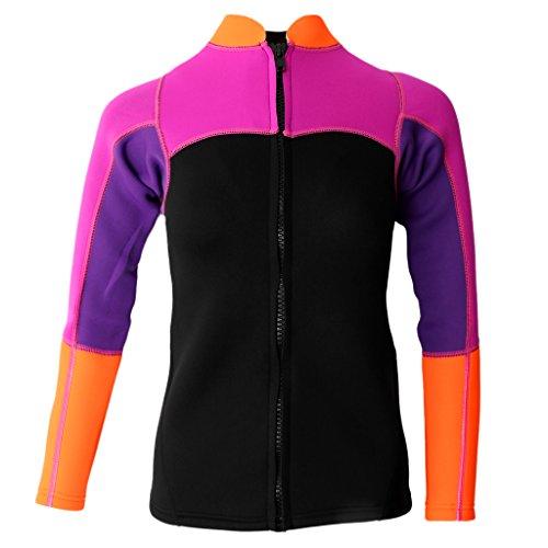 Sharplace Frauen 2mm Neopren Jacke Wassersport Sonnenschutz Shirt - L