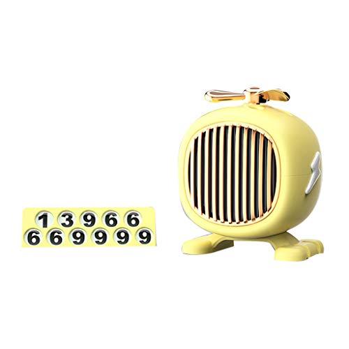 Detrade Auto Kleines Flugzeug Aromatherapie-Clip Für Auto Parfüm Diffusor Propeller Form Lufterfrischer Vent Clip Decor (Yellow)