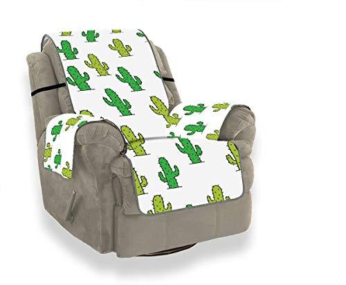 JOCHUAN Reizende grüne Aquarell-Oasen-Kaktus-große Sofa-Abdeckungen für Wohnzimmer-Sofakissen-Sitz gepaßte Stuhl-Schonbezug-Möbel-Schutz für Haustiere, Kinder, Katzen, Sofa