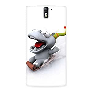 Cute Slide Dog Back Case Cover for One Plus One