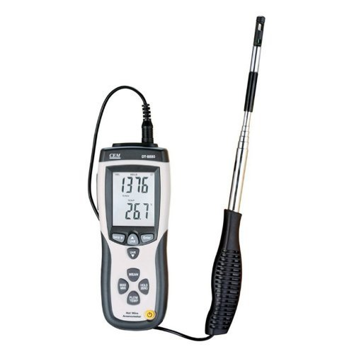 CEM CMM/CFM DT-8880 Hot Wire Anemometer Air Flow Velocity Meter with USB Interface by CEM -
