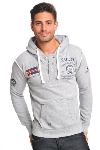 SAILING Norway Royal Yachting Segel Pullover Hoody Sweater GRAU Gr. S